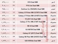 پرفروشترین موبایلهای دوسیمکارته چند؟ +جدول