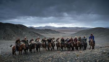 حافظان عقابهای مغولی +تصاویر