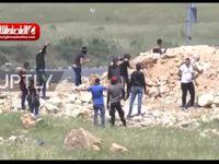 تظاهرات مردم فلسطین در مرزهای نوار غزه +فیلم