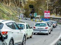 ترافیک نیمه سنگین از کرج به چالوس
