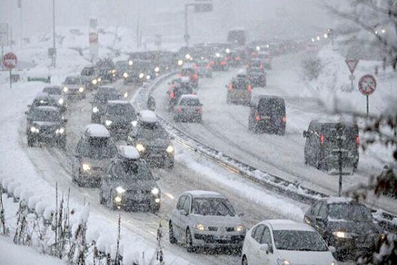 بارش سنگین برف در محور های کوهستانی مازندران