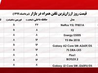 ارزان قیمتترین موبایل چند؟ +جدول
