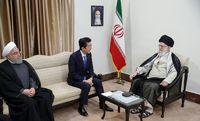 دیدار نخست وزیر ژاپن با رهبر معظم انقلاب اسلامی +عکس