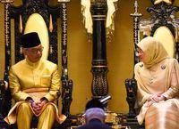 مراسم تاجگذاری سلطان جدید مالزی +تصاویر