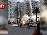 لحظه سقوط ساختمان 12 طبقه در آمریکا +فیلم