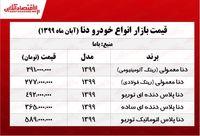 قیمت دنا در تهران +جدول