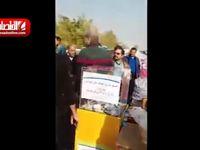رضویان و خیابانی درحال جمعآوری کمک برای زلزله زدگان +فیلم