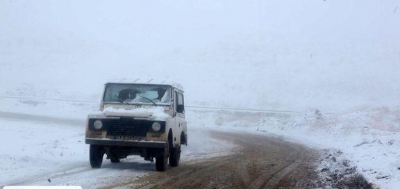 بارش برف و باران در جادههای ۲۰استان کشور