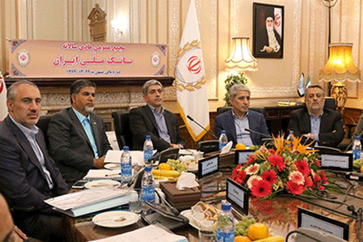 صورتهای مالی ۹۴ بانک ملی ایران تصویب شد