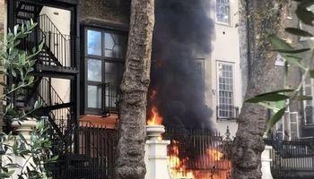 شنیده شدن صدای انفجار در نزدیکی سفارت عربستان در لندن