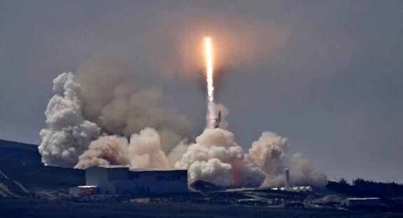 موشک آمریکایی هنگام آزمایش آتش گرفت