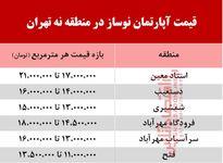 قیمت آپارتمان نوساز در منطقه 9 تهران +جدول