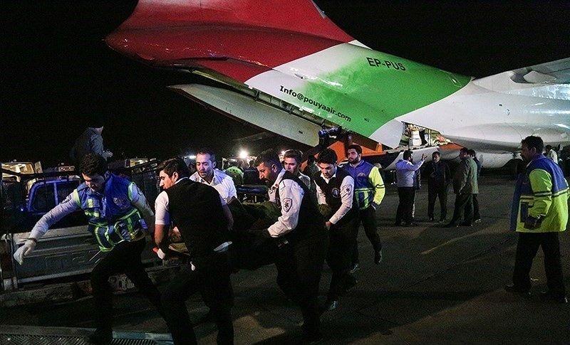 انتقال مصدومان زلزله کرمانشاه به تهران