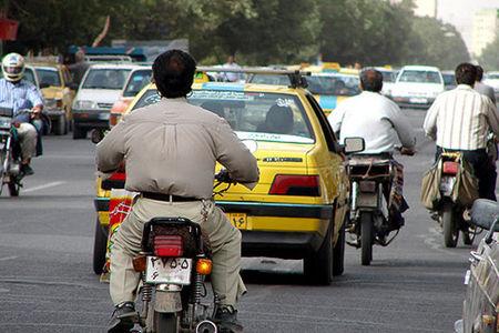 بیاعتنایی موتورسیکلتسوارها به طرح ترافیک