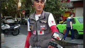 «پیک موتوری ژاپنی» در تهران و ماجراهای زندگیاش +فیلم