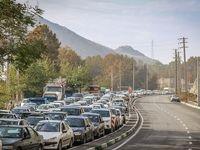 ترافیک سنگین در جاده چالوس +تصاویر