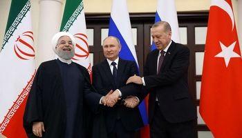 تصاویری از نشست روحانی، پوتین و اردوغان