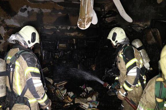 آتشسوزی در یک ساختمان دولتی