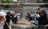 طبخ ۲۰تن آشنذری در امامزاده جعفر و حمیده خاتون +عکس
