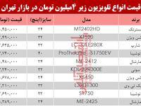 قیمت انواع تلویزیونهای ارزان قیمت در بازار؟ +جدول