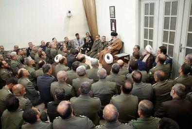 دیدار فرماندهان ارتش با رهبر معظم انقلاب
