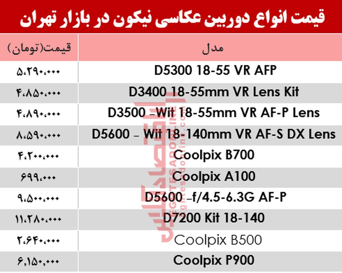 قیمت دوربینهای عکاسی نیکون در بازار؟ +جدول