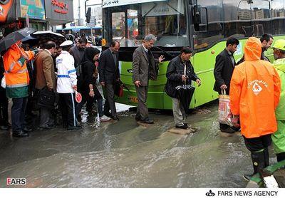 باران بهاری در تهران