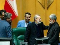 خوش و بش لاریجانی و مطهری در جلسه علنی امروز +عکس