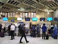مانیتور کانترهای پذیرش فرودگاه مهرآباد از کار افتاد +عکس